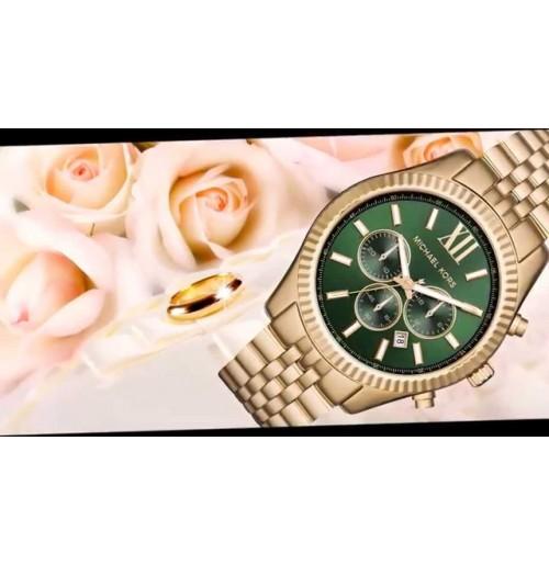 f14499631815 Michael Kors Men s Lexington Gold-Tone Watch MK8446 (Latest)