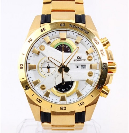 Imported Casio Edifice 540 White Dial Full Gold Watch For Men New Arrival 0f9b735bdfef