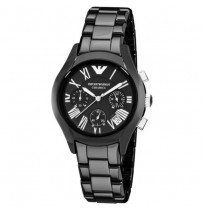 EMPORIO ARMANI AR1401 CERAMIC BLACK LADIES/WOMENS CHRONOGRAPH WRIST WATCH