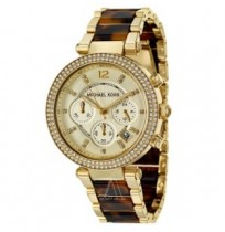 Michael Kors Gold-tone And Tortoise Shell