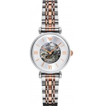 Emporio Armani AR1992 Meccanico Women's Retro Two Tone Watch