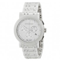 Burberry Chronograph White Dial White Ceramic Unisex Watch
