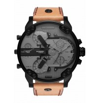 DIESEL DZ7406 MR. DADDY 2.0 BLACK TAN MEN'S WATCH