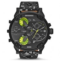 DIESEL DZ7311 Mr.Daddy 2.0 Black Camo Chronograph Leather Men's Watch