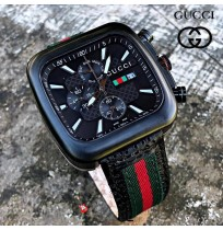 Gucci Black Dial Day Date Watch For Men