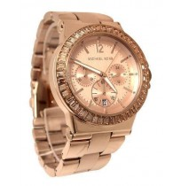 Michael Kors MK5586 Dylan,Full Rose Gold Studded Chronograph Watch for Women