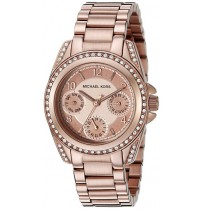Michael Kors MK5613 Runway Glitz Mini Blair Rose Gold Crystal Watch