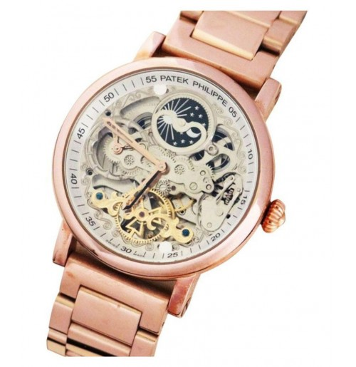 Patek Philippe Skeleton HX005 Rose Gold Analog Watch For Men