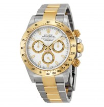 ROLEX Cosmograph Daytona White Dial Stainless Steel and Yellow Gold Rolex Oyster Bracelet Automatic Men's Watch