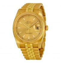 ROLEX Datejust Automatic Gold Dial Gold Chain Men's Watch Imported.