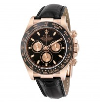Imported ROLEX Cosmograph Daytona Black Dial Rose Gold Automatic Men's Watch