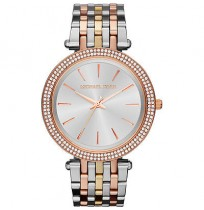 Michael Kors MK3203, Sleek Design, TRI Tone Studded Bezel Watch for Women