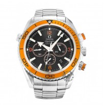 IMPORTED OMEGA SEAMASTER MEN'S ORANGE DIAL CHRONOGRAPH WATCH