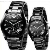 Imported Emporio Armani Ar1400-ar1401 Couple, Ceramic Chronograph Watches