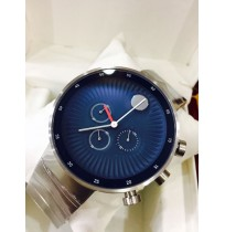 Imported Movado Edge Blue Dial Silver Chain Watch for Men