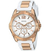GUESS W0325L6 white Print Dual tone Chronograph Watch for Women Imported