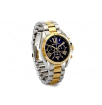 Michael Kors Bradshaw MK5976,Two Tone Rare Blue Dial Chronograph Watch .UNISEX