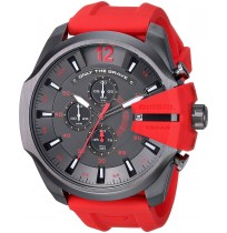 Diesel DZ4427 Red Strap Gunmetal Dial Chronograph Men's Watch- 2 YEARS WARRANTY