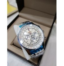 Imported Breitling Navitimer World White Dial Chronograph Watch for Men