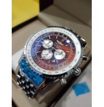 Imported Breitling Navitimer World Brown Dial Chronograph Watch for Men