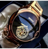 Imported Cartier Ballon Rose Gold Black Dial Automatic Men's Watch