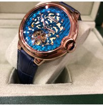 Imported Cartier Rose Gold Multi Colour Dial Automatic Men's Watch Limited Edition