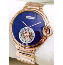 IMPORTED CARTIER BALLON ROSE GOLD BLUE DIAL AUTOMATIC MEN'S WATCH