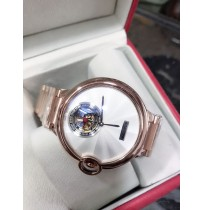 Imported Cartier Ballon Rose Gold White Dial Automatic Men's Watch