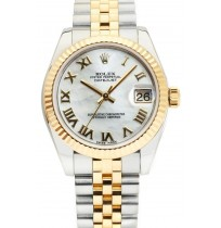 Imported ROLEX Oyster Perpetual Datejust 36 White Dial Stainless Steel and Gold Jubilee Bracelet Automatic Men's Watch