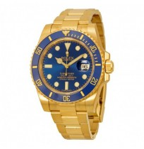 Imported ROLEX Submariner Blue Dial Gold Oyster Bracelet Automatic Men's Watch