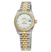 Imported Rolex Lady Datejust Silver Dial Steel and  Golden Automatic Ladies Watch