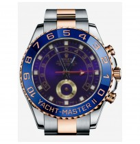 IMPORTED ROLEX YACHT-MASTER II OYSTER PERPETUAL, 44 MM, STEEL AND EVEROSE GOLD WITH BLUE DIAL