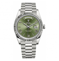 IMPORTED ROLEX OYSTER PERPETUAL DAY DATE WITH OLIVE GREEN DIAL