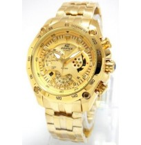 Imported Casio Edifice 550 full gold watch for men