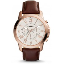 Fossil FS4991 Mens Analog Quartz Watch with Leather Strap