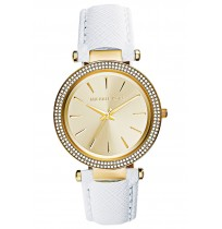 Imported Michael Kors Darci Dial White Leather Ladies Watch MK2391