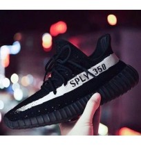 Imported Adidas Yeezy Boost 350 V2 Low White Black SPLY OREO Kanye West BY1604 Mens