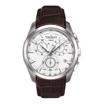Tissot Couturier White Dial Brown Leather Mens Watch T0356171603100