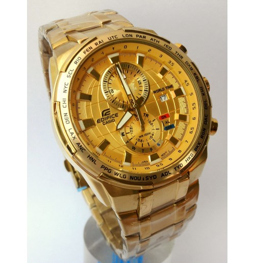 Imported Casio Edifice Efr 550 Full Gold Watch For Men Limited Edition