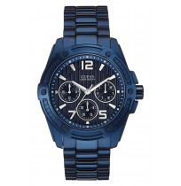 Guess Blue Stainless Steal Men Watch -W0601G2