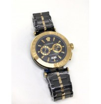 Imported Versace Black and Golden Dial Men's Watch