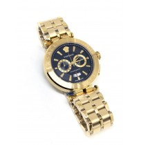 Imported Versace Black Dial Full Gold Chain Men's Watch