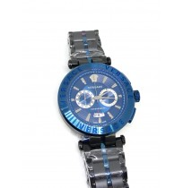 Imported Versace Black and Blue Dial Men's Watch